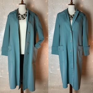 Vintage Forecaster Blue Gray Trench with Pockets